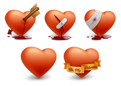 Icon Drawer dot com - Free Valentine's Day vectors collection