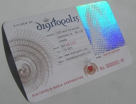 Digitopolis business card design
