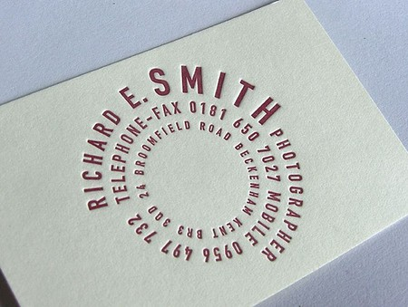 Richard E. Smith cool business cards design