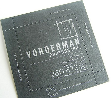 Vorderman Photography business cards design