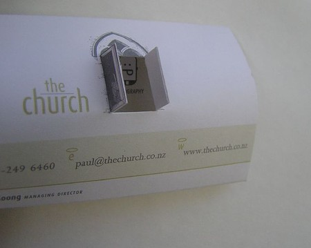 The Church cool business cards design