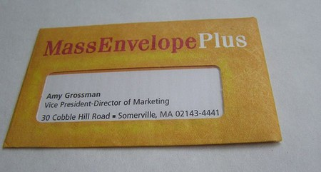 Mass Envelope Plus cool business cards design