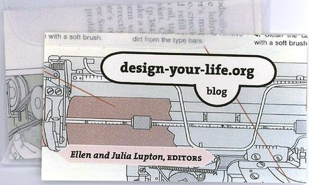 Design your life business card design
