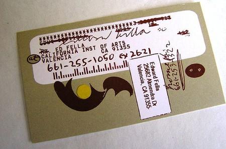 Ed Fella business card design