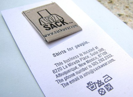 Sack Wear business cards design