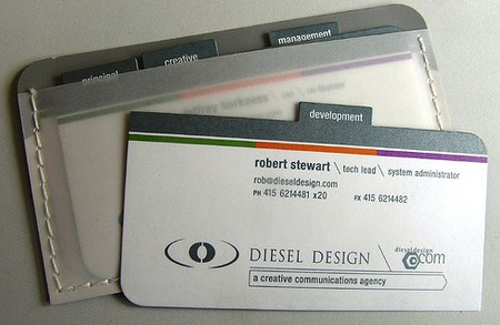 Diesel Design cool business cards design