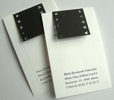 Kinos Aarau cool business cards design