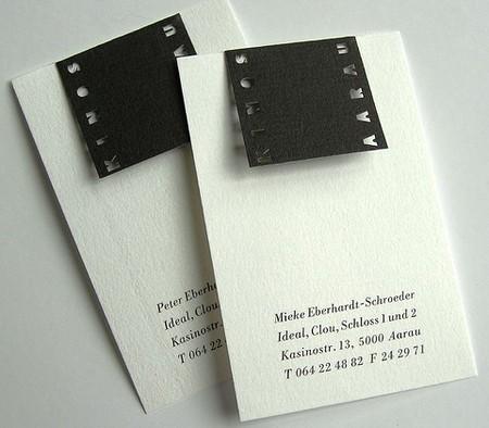 Kinos Aarau business card design