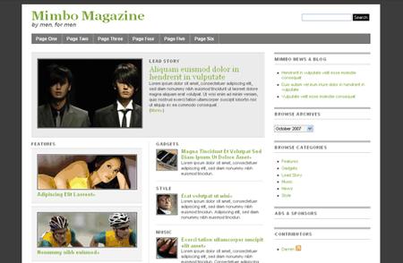 Mimbo 2 - Top 50 free WordPress themes