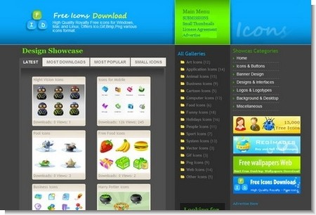 Free Icons Download website