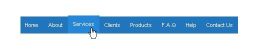 Tutorial to create a cool CSS horizontal menu