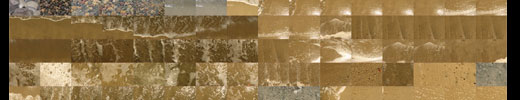 Sand, wet sand and rocks textures