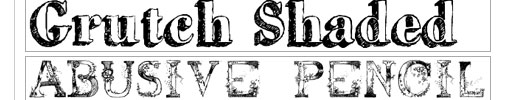 Hand Drawn Fonts Collection