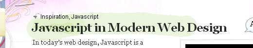 Javascript in Modern Web Design