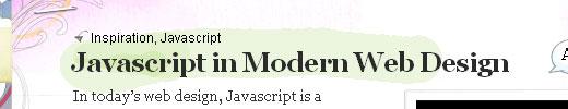 Javascript in Modern Web Design