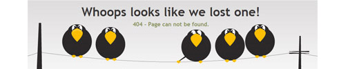 "25 Awesome ""404 Error"" Pages"
