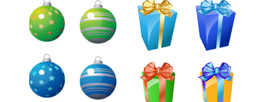 Christmas Ornaments and Gift Icons