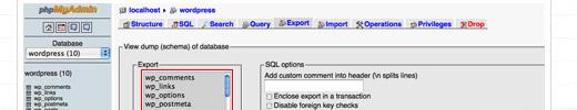 Exporting and Importing WordPress