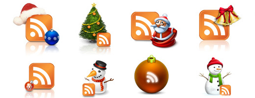 Free Christmas RSS Icons