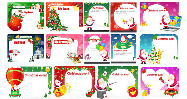 Free Christmas Vectors - Postcards
