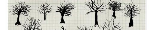 Free Vectors : Ink Trees