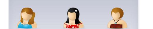 Girl Avatars: Free PSD Vector Icon Set