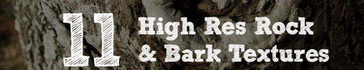 Freebie: 11 High Res Rock & Bark Textures