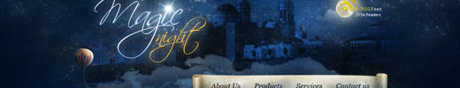 Create a Magic Night Themed Web Design from Scratch in Photoshop