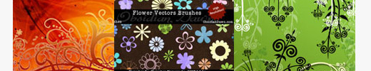 18 Sets of Free Hi-Res Ornamental Brushes for Photoshop