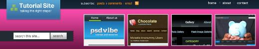 Tutorial Site Blog Design