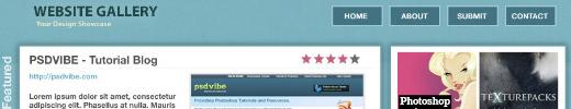 Website Gallery Layout Design