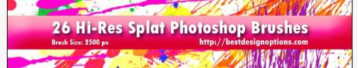 Free Photoshop Brushes: 26 High-Res Splatter