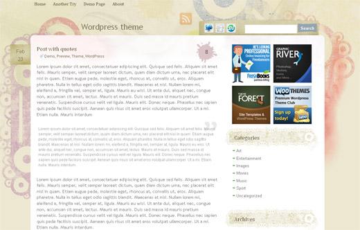 Artistic Theme - Free WordPress Theme