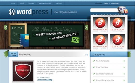Blues Free WordPress Theme