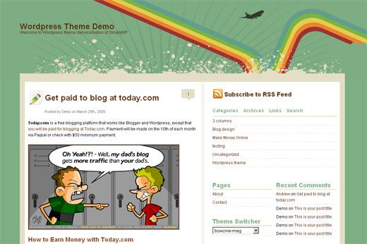 Bowzine Free WordPress Theme