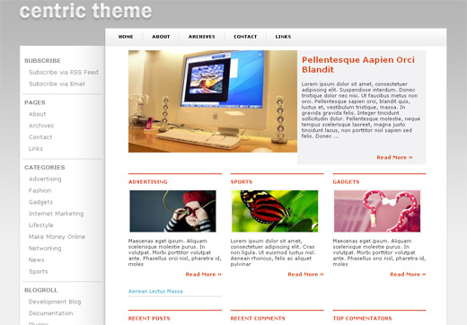 Centric Free WordPress Theme