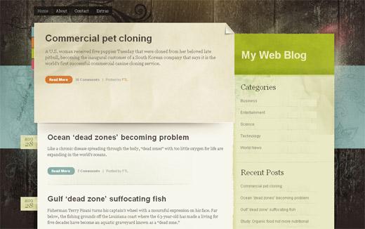 Color Paper Free WordPress Theme