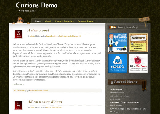 Curious Free WordPress Theme