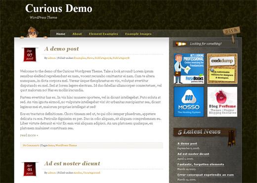 Curious Free WordPress Theme