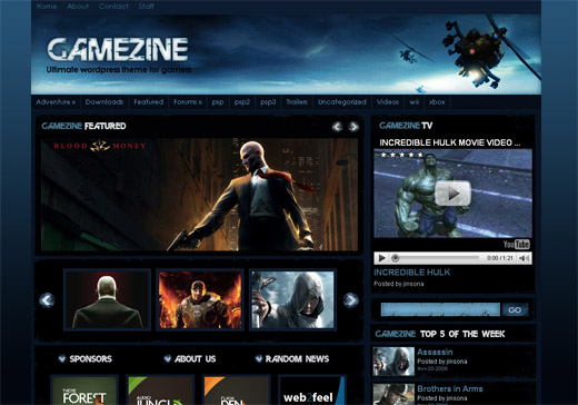 Gamezine Free WordPress Theme