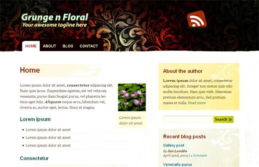 Gunge 'n Floral Free WordPress Theme