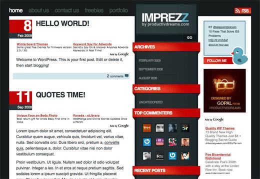 Imprezz Free WordPress Theme