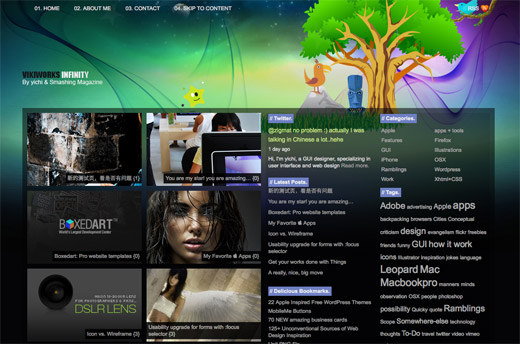 Infinity Free WordPress Theme
