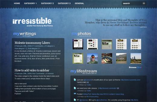 Irresistible Free WordPress Theme