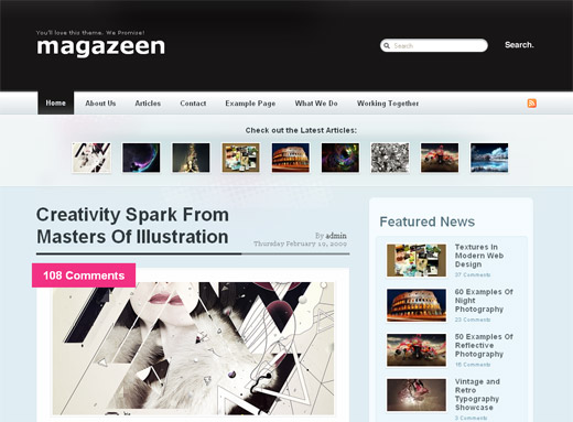 Magazeen - Free WordPress Theme