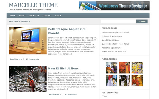 Marcelle Free WordPress Theme