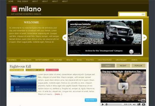 Milano Free WordPress Theme
