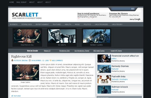 Scarlett - Free WordPress Theme