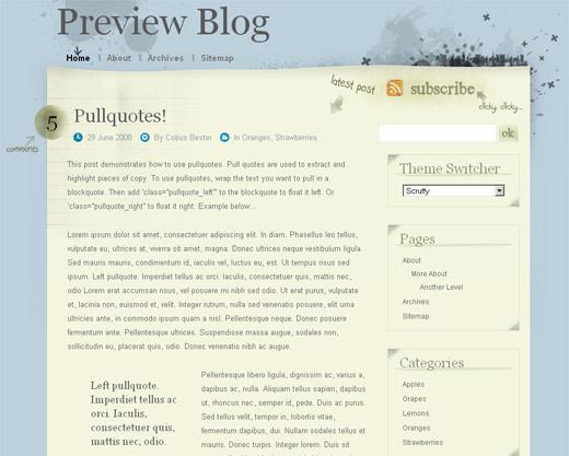 Scruffy Free WordPress Theme