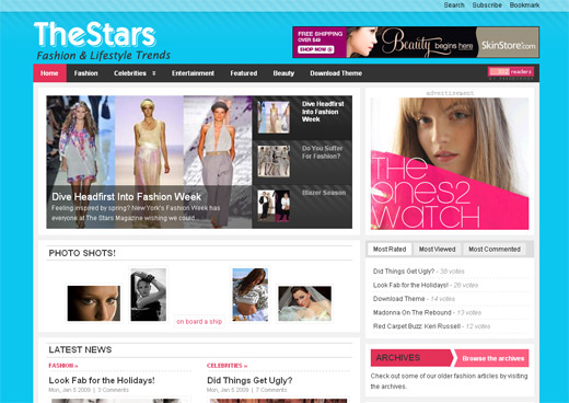 The Stars Free WordPress Theme